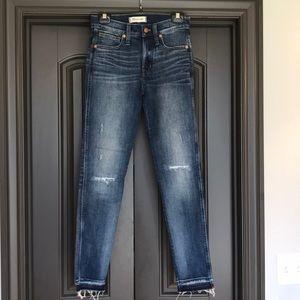 "Madewell 9"" High rise skinny jeans"
